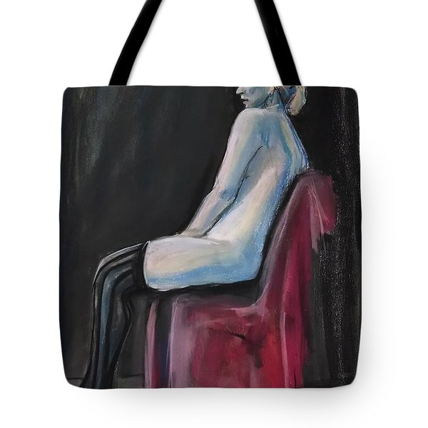 Tote Bag featuring the drawing Blue by Gabrielle Wilson-Sealy