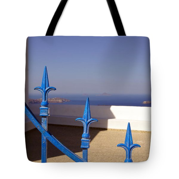 Blue Gate Tote Bag