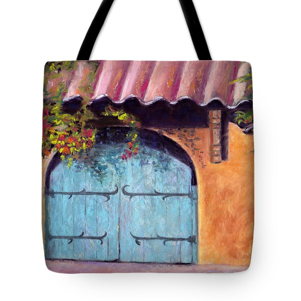Blue Gate Tote Bag by Julie Maas