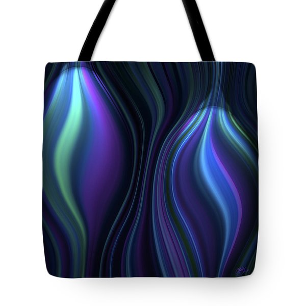 Blue Globes Tote Bag