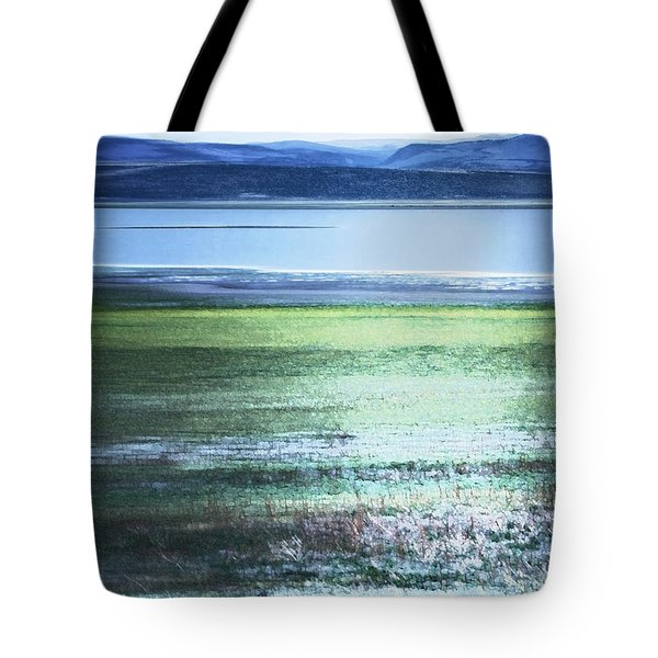 Blue Green Landscape Tote Bag
