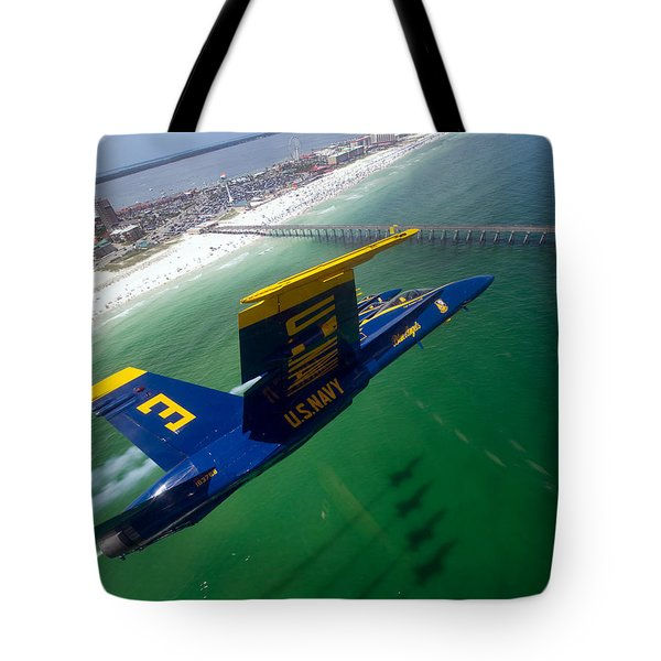 Blue Green Tote Bag