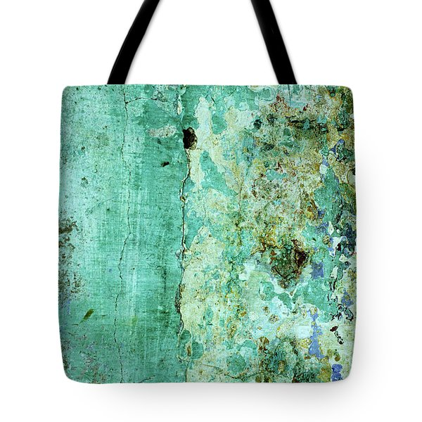 Blue Green Wall Tote Bag