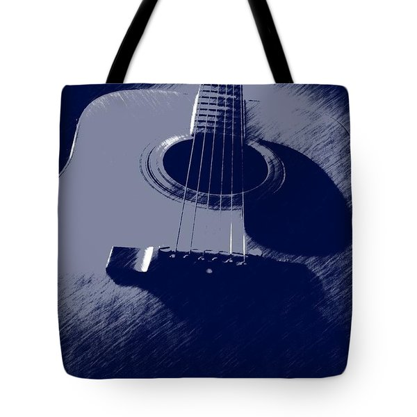 Blue Guitar Tote Bag by Photographic Arts And Design Studio