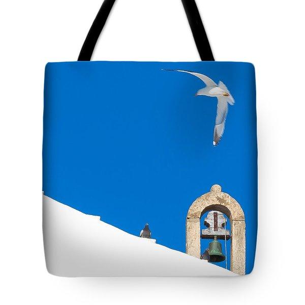 Blue Gull Tote Bag