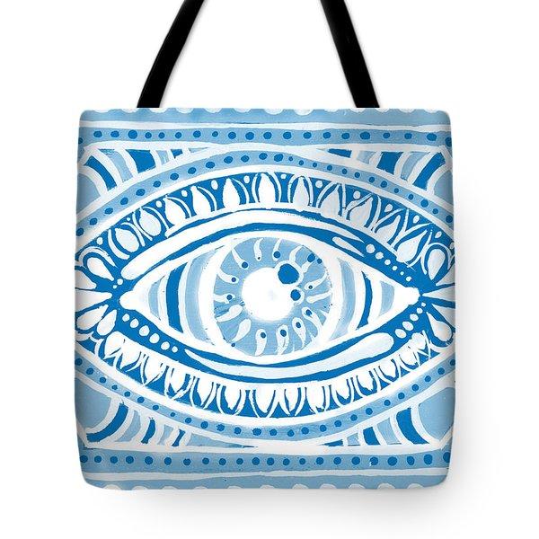 Blue Gypsis Eye Tote Bag