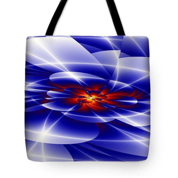 Blue Tote Bag by Hai Pham