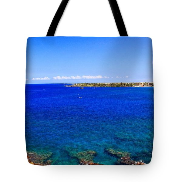 Tote Bag featuring the photograph Blue Hawaiii by Athala Carole Bruckner