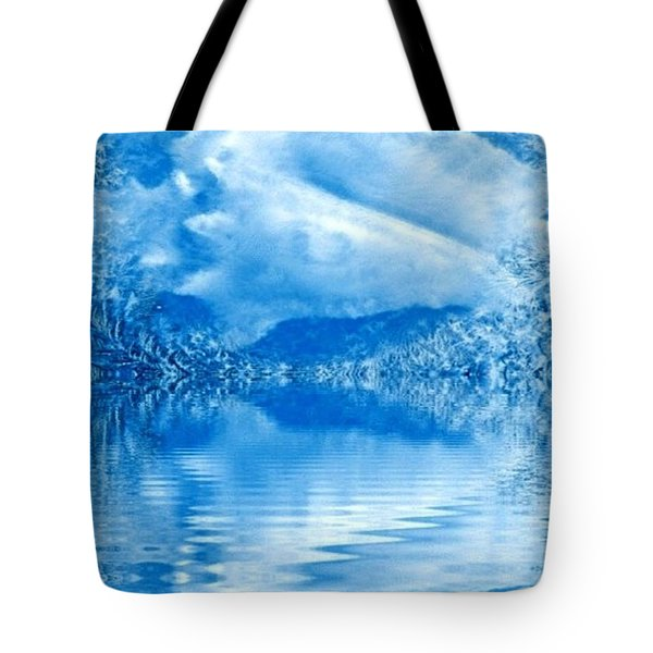 Blue Healing Tote Bag