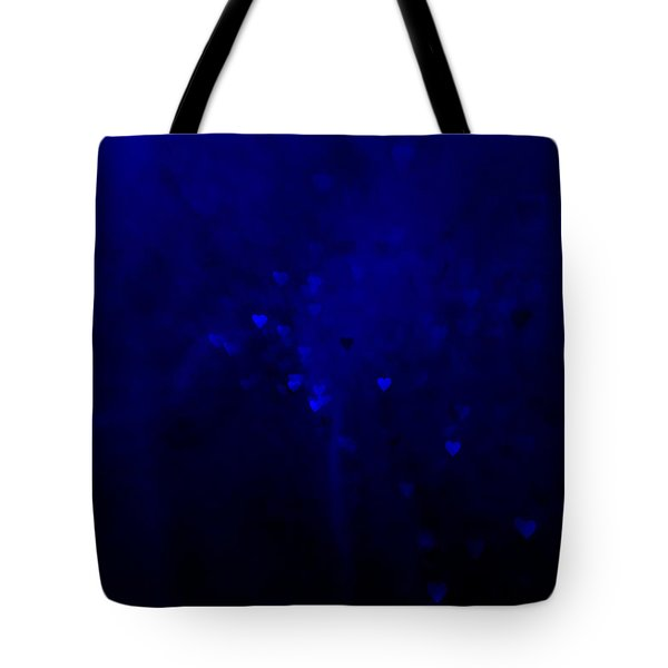 Blue Hearts Tote Bag by Beverly Stapleton