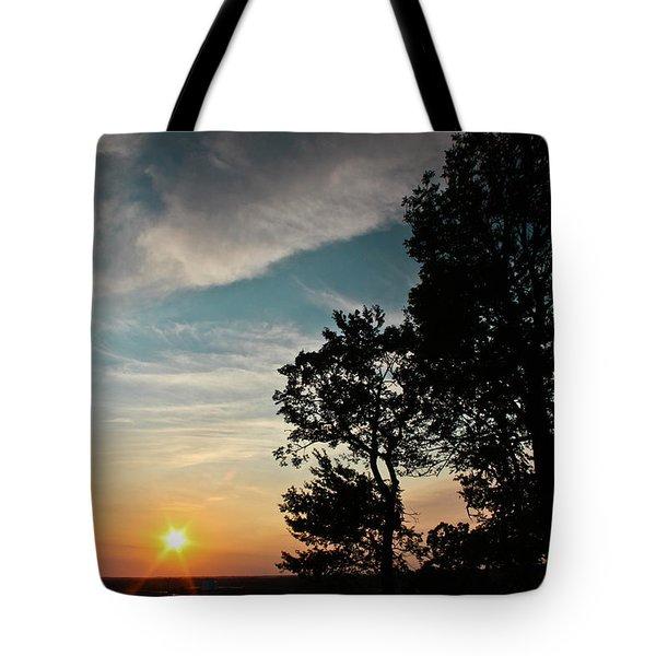 Blue Heaven Sunset Tote Bag