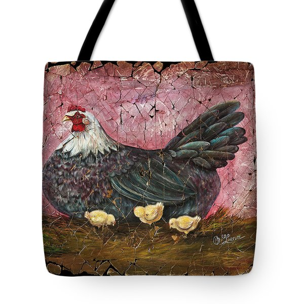 Blue Hen With Chicks Fresco Tote Bag