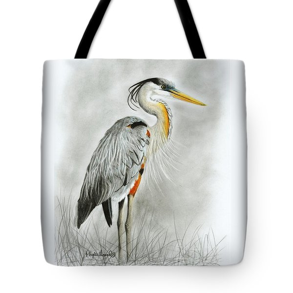Blue Heron 3 Tote Bag