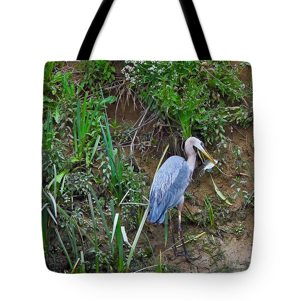 Tote Bag featuring the photograph Blue Heron by Brian Williamson