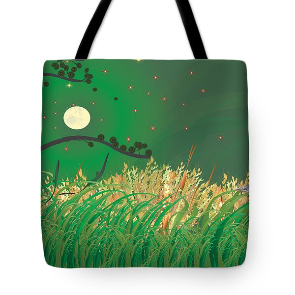 Blue Heron Grasses Tote Bag by Kim Prowse