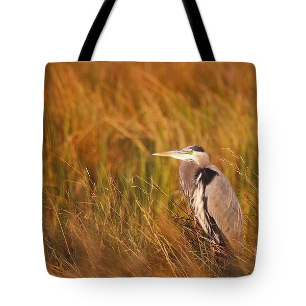 Tote Bag featuring the photograph Blue Heron In Louisiana Marsh by Luana K Perez