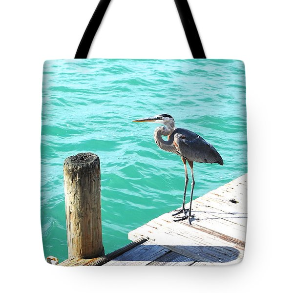 Blue Heron Morning Tote Bag by Margie Amberge
