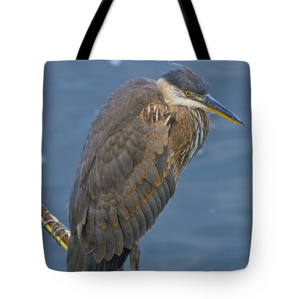 Blue Herron Tote Bag