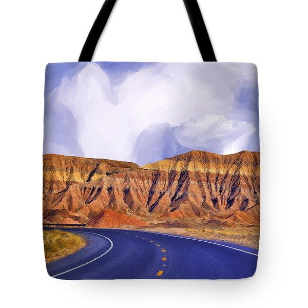 Blue Highway Tote Bag