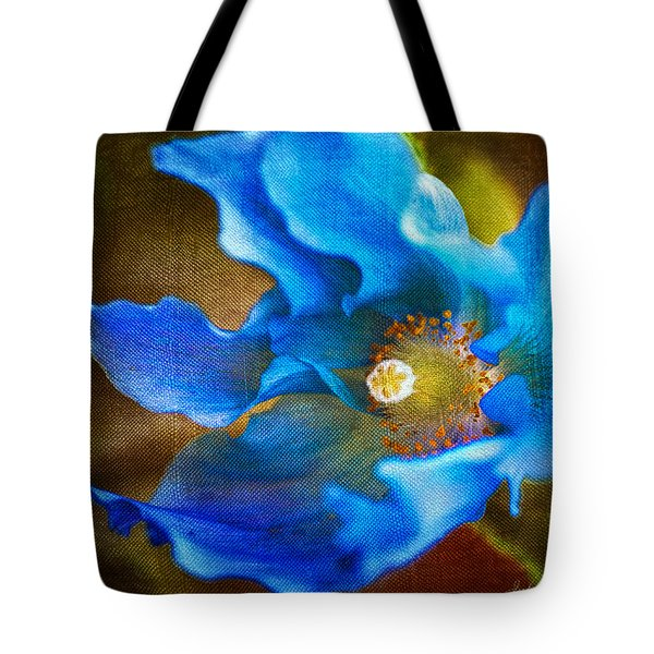 Blue Himalayan Poppy Tote Bag