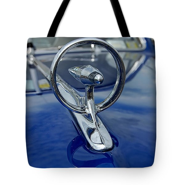 Blue Hood Tote Bag