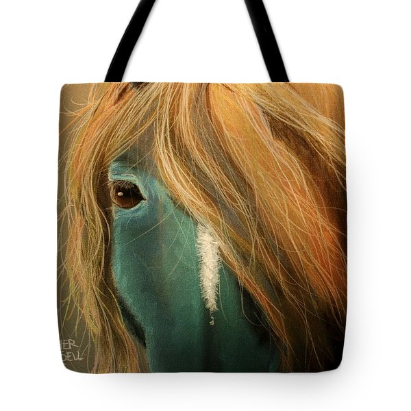 Blue Horse Tote Bag by Heather Gessell