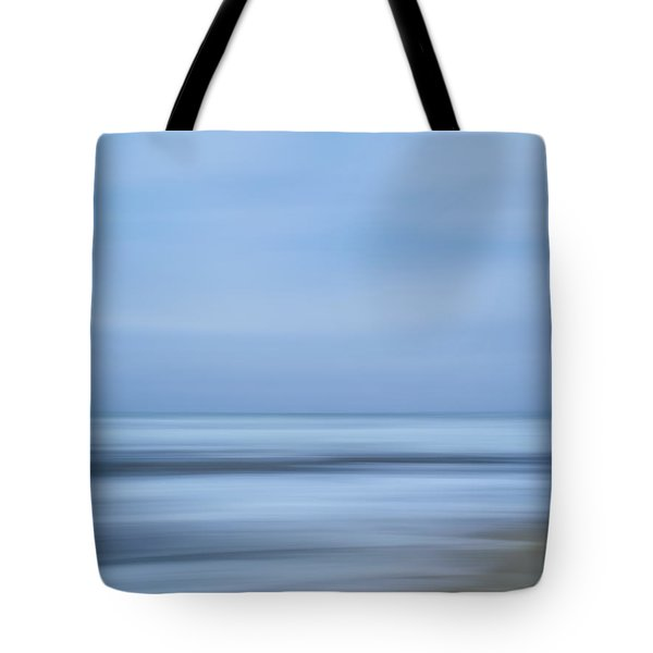 Blue Hour Beach Abstract Tote Bag