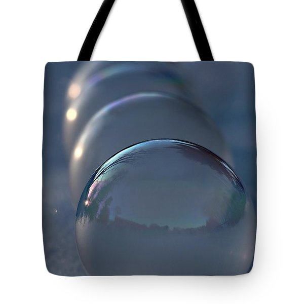 Blue Hour Frozen Bubbles Tote Bag by Kenny Glotfelty