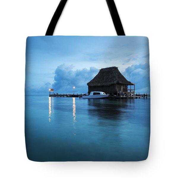 Blue Hour Landscape Tote Bag