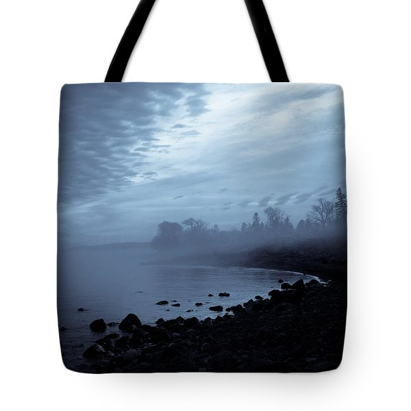 Blue Hour Mist Tote Bag