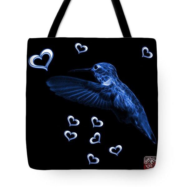 Blue Hummingbird - 2055 F M Tote Bag by James Ahn