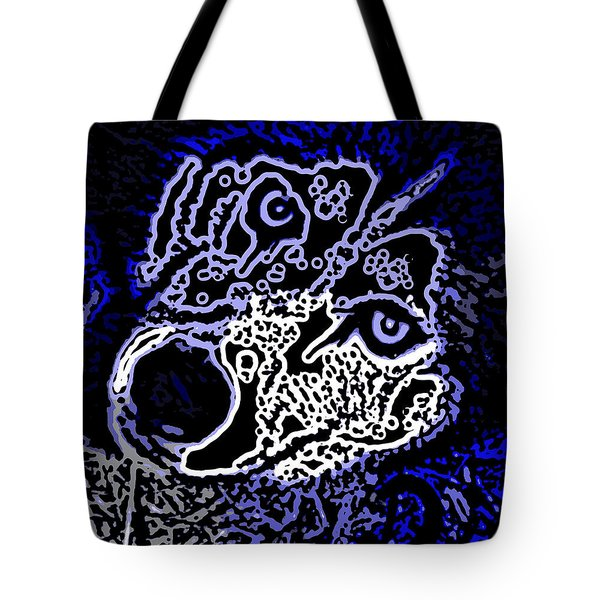 Blue Husky Tote Bag by Kevin Caudill