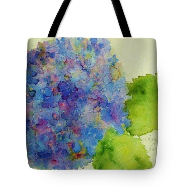 Blue Hydrangea Tote Bag by Ann Michelle Swadener