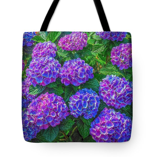 Tote Bag featuring the photograph Blue Hydrangea by Hanny Heim
