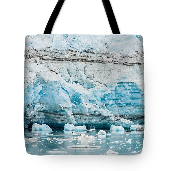 Blue Ice Tote Bag by Melinda Ledsome