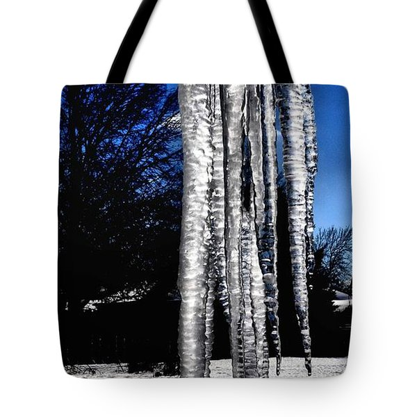 Tote Bag featuring the photograph Blue Ice by Luther Fine Art