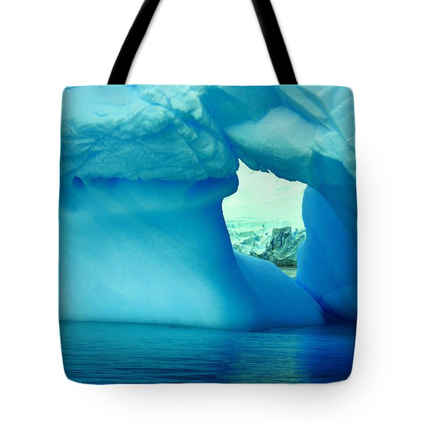 Blue Iceberg Antarctica Tote Bag by Amanda Stadther