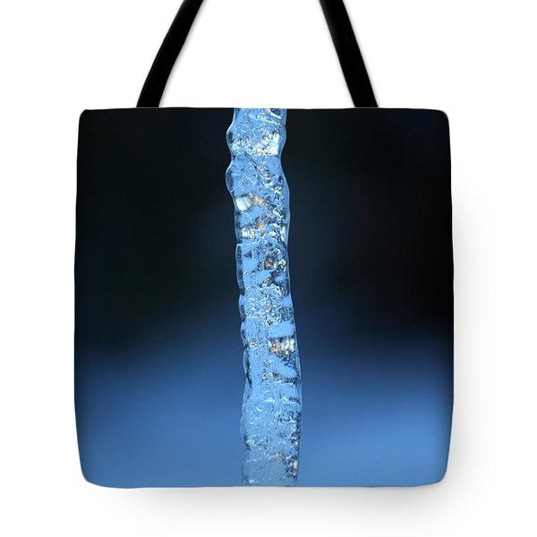 Blue Icicle Tote Bag by James Eddy