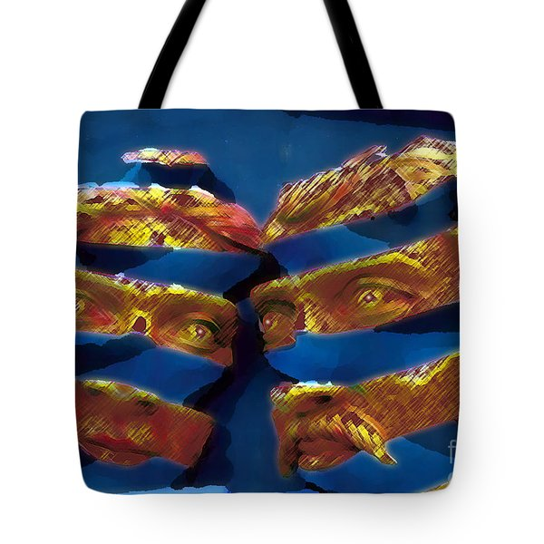 Blue In The Face Tote Bag by Jack Gannon