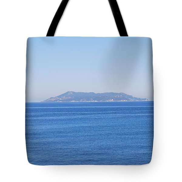 Tote Bag featuring the photograph Blue Ionian Sea by George Katechis