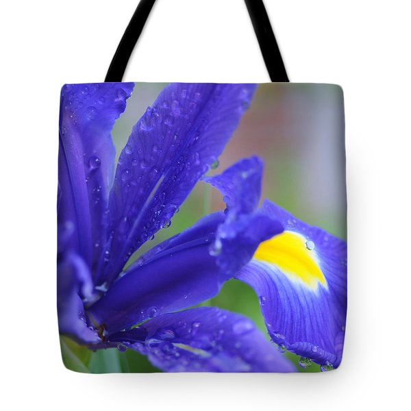 Tote Bag featuring the photograph Blue Iris by Haleh Mahbod