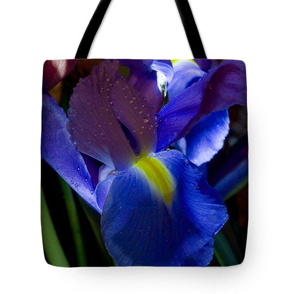 Blue Iris Tote Bag by Joann Vitali