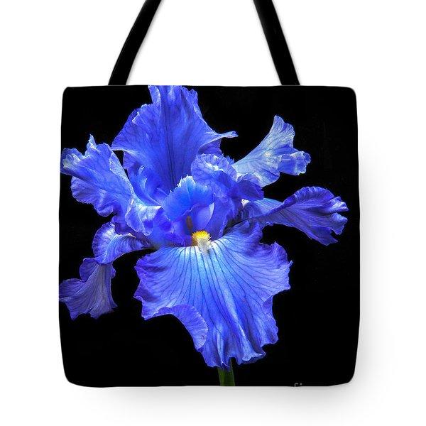 Blue Iris Tote Bag by Robert Bales