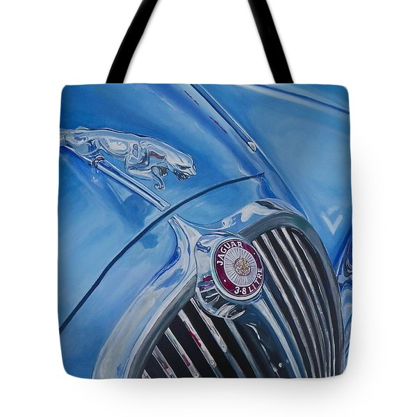 Vintage Blue Jag Tote Bag