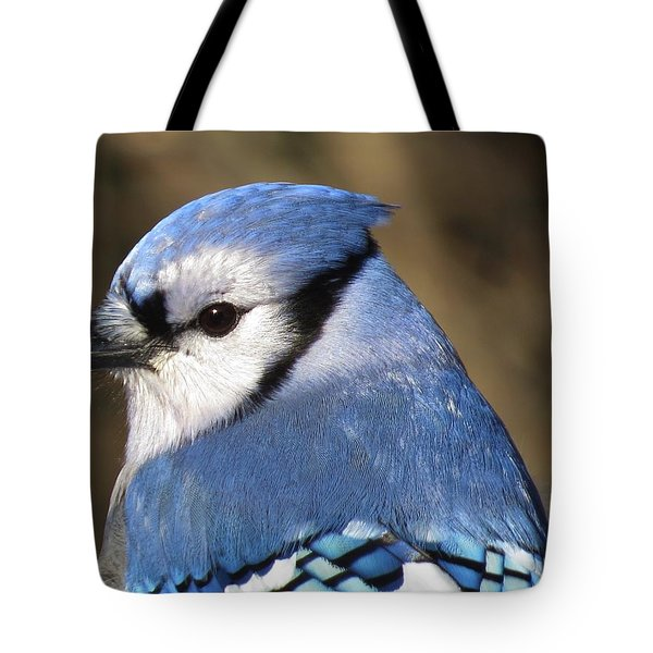 Blue Jay Profile Tote Bag by MTBobbins Photography
