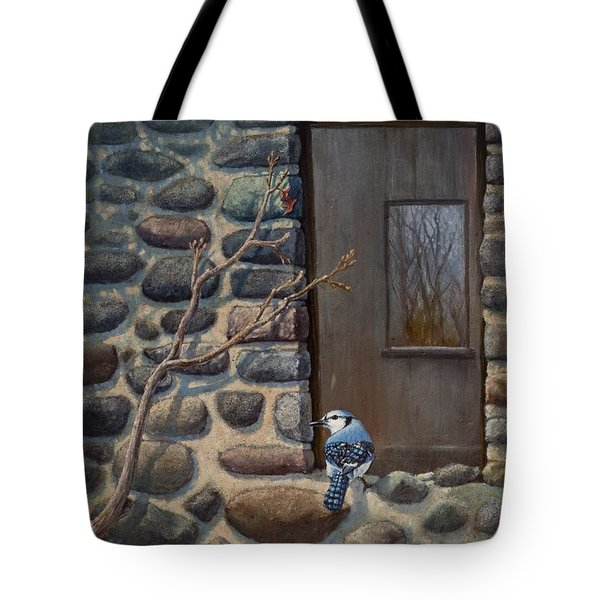 Blue Jay Tote Bag by Rob Corsetti