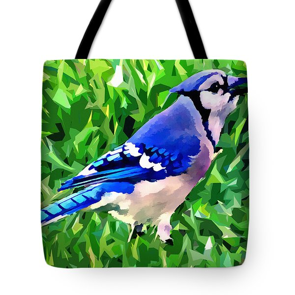 Blue Jay Tote Bag by Stephen Younts