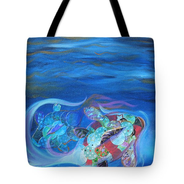 Blue Koi Tote Bag