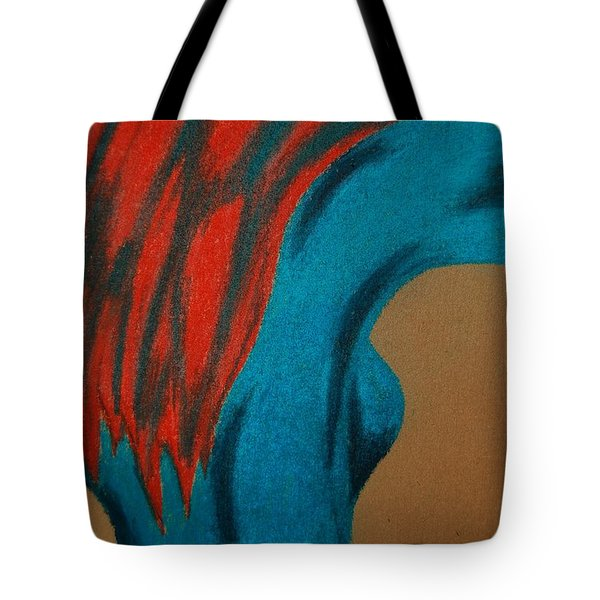 Blue Lady Tote Bag by Angela Murray