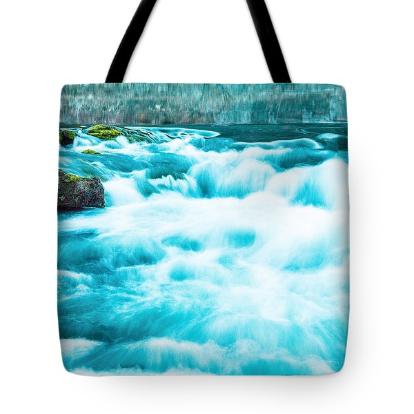Tote Bag featuring the photograph Blue Lagoon by Steven Bateson